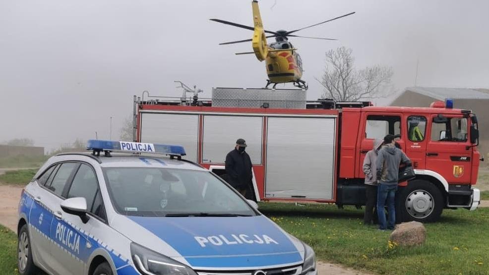 Mężczyzna spadł z wysokości. Na pomoc wezwano LPR - Zdjęcie główne