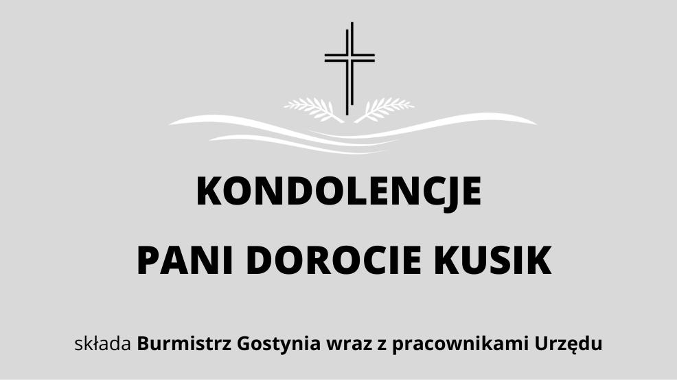 Kondolencje dla Pani Doroty Kusik - Zdjęcie główne