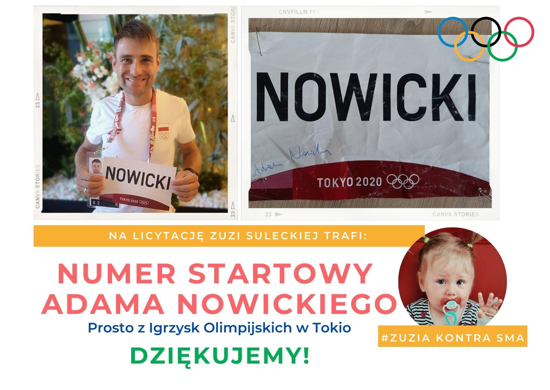 Adam Nowicki przekazał swój numer startowy z Igrzysk Olimpijskich w Tokio na licytację dla Zuzi Suleckiej - Zdjęcie główne