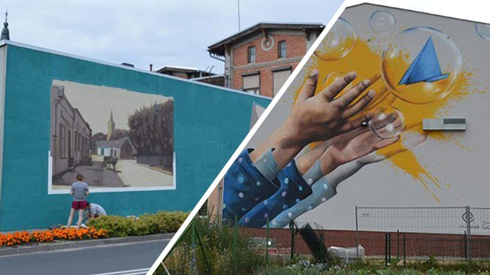 Kolorowa wycieczka muralowa. Obejrzyjcie murale w powiecie gostyńskim. Czy wpadliśmy w sidła muralozy? - Zdjęcie główne