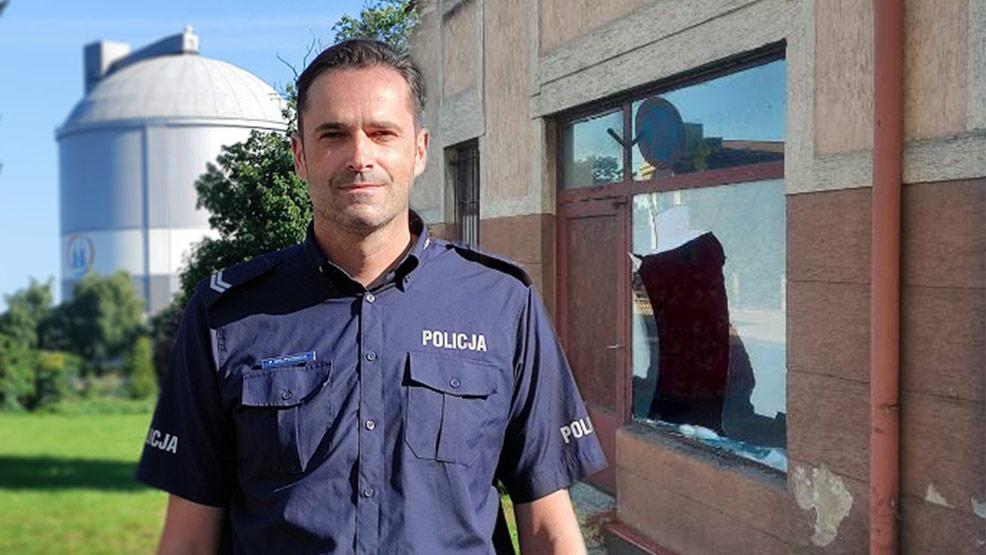 Kiedy złapał go policjant, miał zakrwawione ręce. Akcja w Gostyniu - Zdjęcie główne