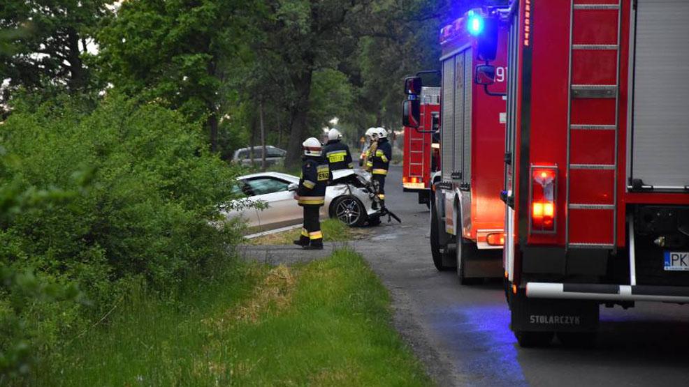 Wypadek śmiertelny w okolicach Kromolic, w  gminie Pogorzela. Nie żyje jeden z kierowców - Zdjęcie główne