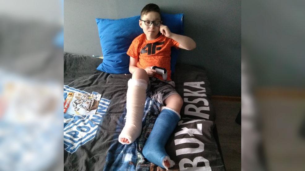 Mateusz ma 12 lat i uczy się chodzić od nowa. Gostyńscy kibice Kolejorza proszą: pomóżcie! - Zdjęcie główne
