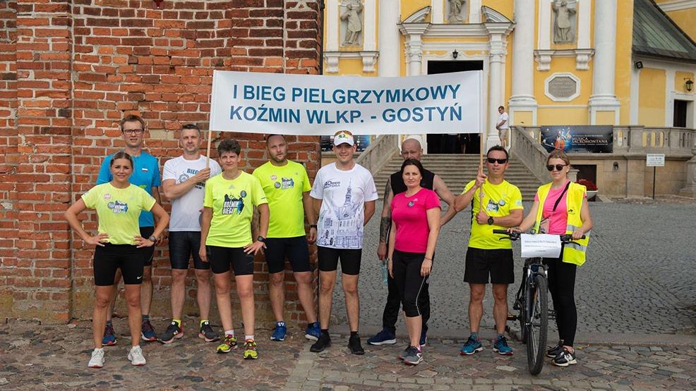 Maraton z Koźmina Wlkp. Przybiegli na Świętą Górę, by podziękować - Zdjęcie główne