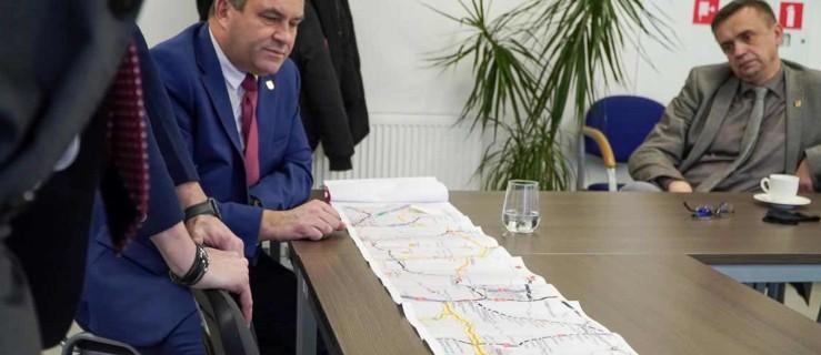 Przebudowa drogi krajowej nr 12. Rozmowy u burmistrza Jarocina  - Zdjęcie główne