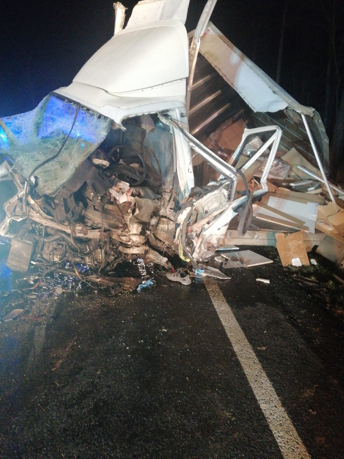 Dwa wypadki na drodze krajowej nr 11. Jedna osoba nie żyje [ZDJĘCIA]  - Zdjęcie główne