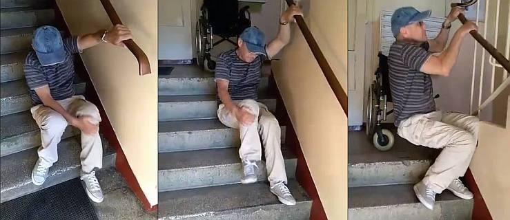 Wstrząsające nagranie. Musi czołgać się po schodach, żeby wejść do domu. Pomóżmy Jackowi Koszalikowi - Zdjęcie główne