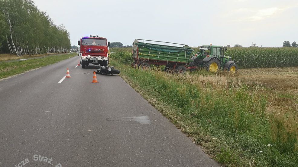 Wypadek na drodze Jarocin-Żerków. Jest ranny - Zdjęcie główne