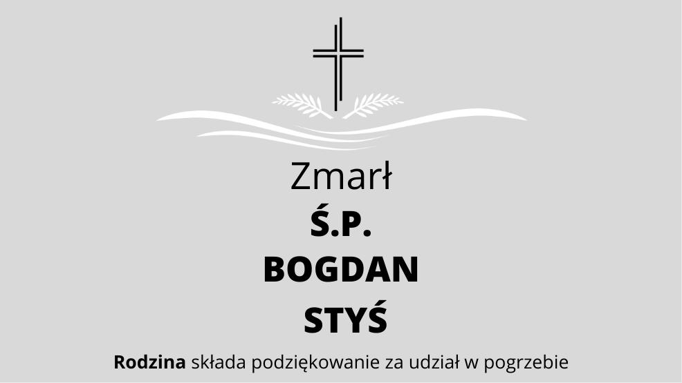 Zmarł Ś.P. Bogdan Styś - Zdjęcie główne