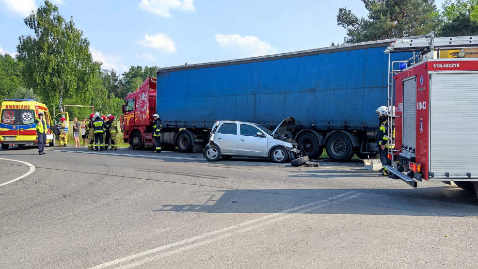 Wypadek na DK 11 koło Nowego Miasta [AKTUALIZACJA] - Zdjęcie główne