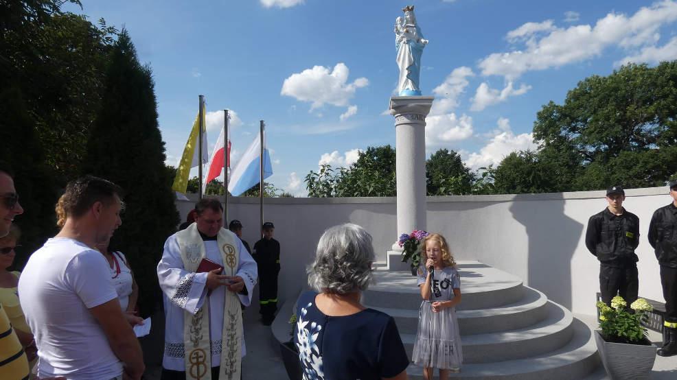 Witaszyce. Poświęcono odnowioną kapliczkę z figurą Matki Bożej - Zdjęcie główne
