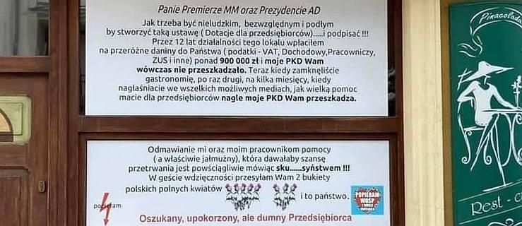 Przedsiębiorca z Jarocina do premiera i prezydenta: Odmawianie pomocy jest sku***syństwem - Zdjęcie główne