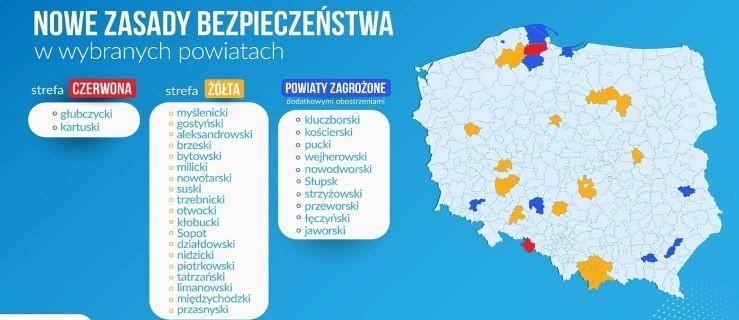 Nowa lista powiatów z dodatkowymi obostrzeniami - Zdjęcie główne
