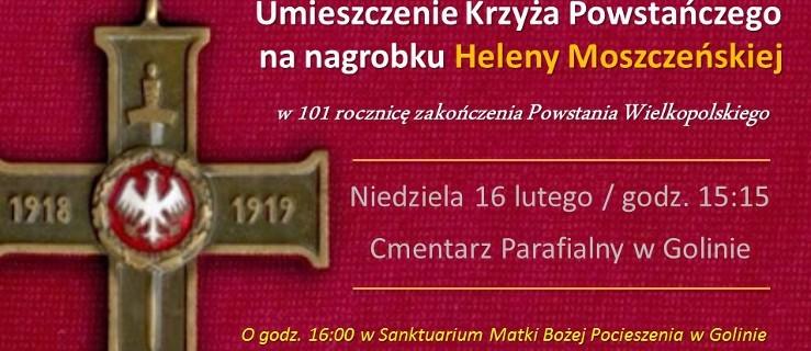 Krzyż dla właścicielki majątku Golina i msza św. w intencji powstańców  - Zdjęcie główne