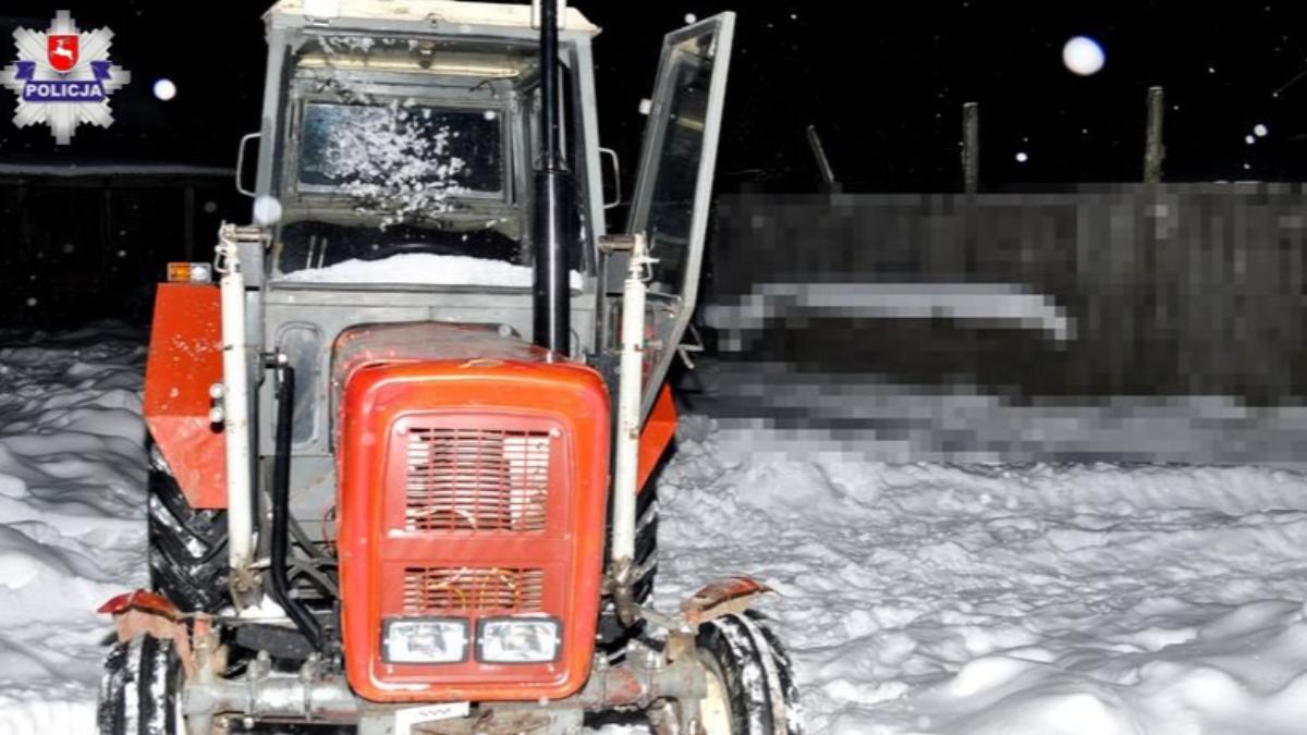 [WR] Zimowa przejażdżka traktorem po polu zakończona w szpitalu. Zawiniły procenty? - Zdjęcie główne