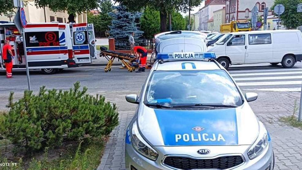 Potrącenie rowerzystki na skrzyżowaniu ul. Kościuszki i Paderewskiego w Jarocinie - Zdjęcie główne