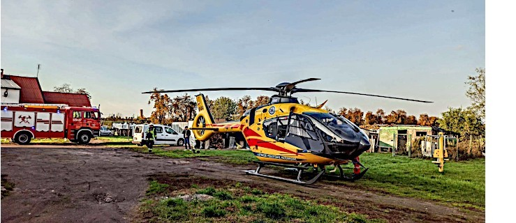 Śmigłowiec LPR-u znalazł się w odpowiednim miejscu. Ratownicy zabrali pacjenta z Aleksandrowa - Zdjęcie główne
