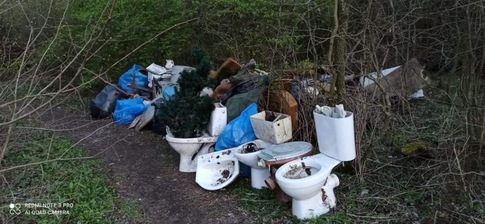 Sedesy, opony, bębny po pralkach zaśmiecają park [ZOBACZ ZDJĘCIA]  - Zdjęcie główne