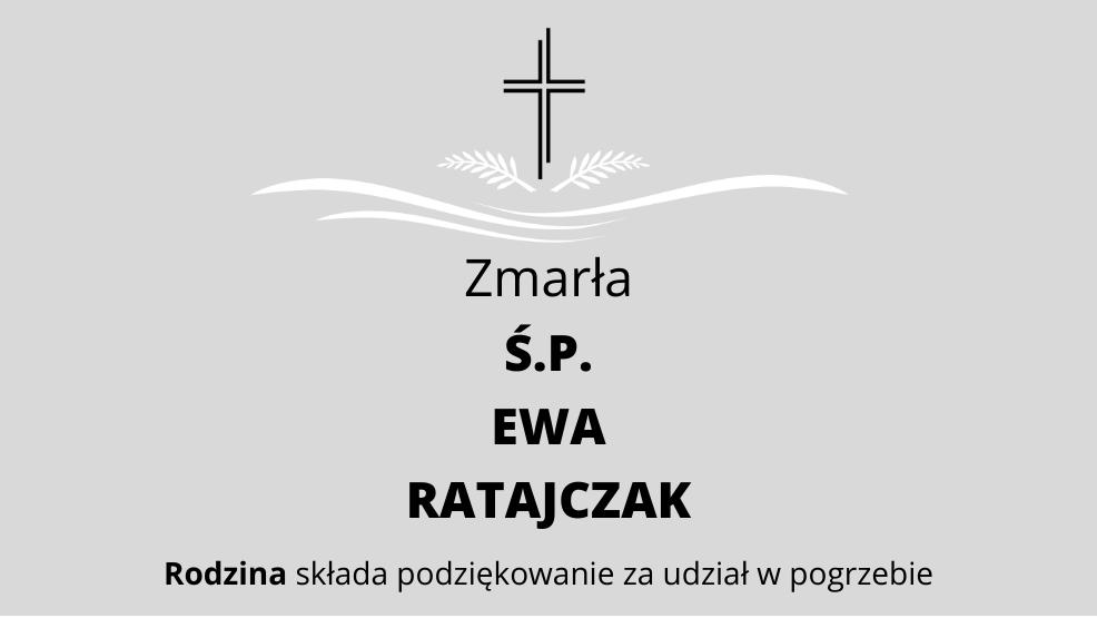 Zmarła Ś.P. Ewa Ratajczak - Zdjęcie główne