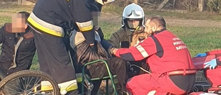 Kobieta zasłabła. Mężczyzna leżał w rowie. Na ratunek przyleciał LPR - Zdjęcie główne