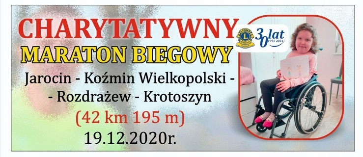 Pobiegną w charytatywnym maratonie z Jarocina do Krotoszyna  - Zdjęcie główne