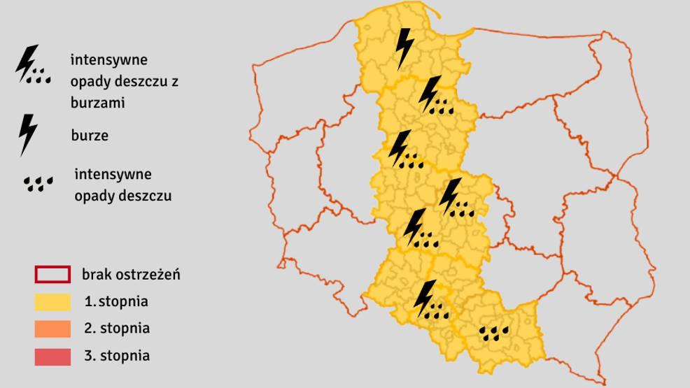 Ostrzeżenie dla powiatu jarocińskiego. Będzie intensywnie padać - Zdjęcie główne