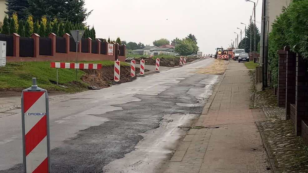 Jarocin. Trwa przebudowa ulic Wodnej, Glinki i Leszczyce. Będzie kolejne rondo - Zdjęcie główne