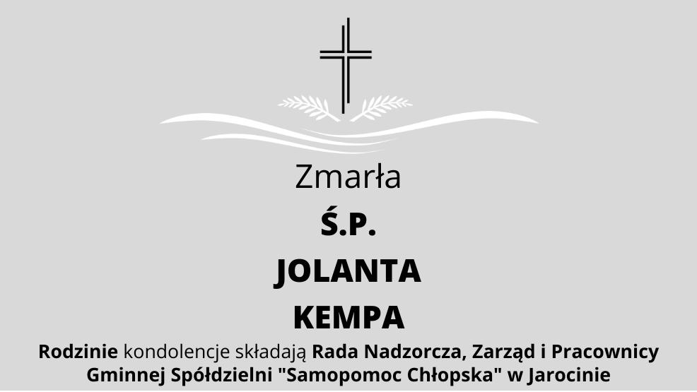 Zmarła Ś.P. Jolanta Kempa - Zdjęcie główne