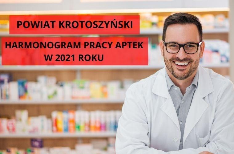 Godziny pracy aptek na terenie powiatu krotoszyńskiego w 2021 roku - Zdjęcie główne