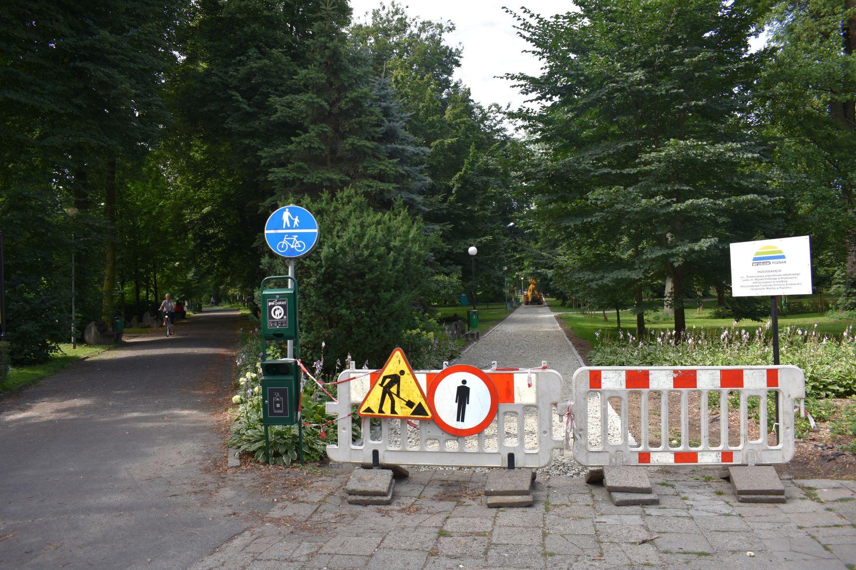 Krotoszyn. Zamknęli część parku [ZDJĘCIA] - Zdjęcie główne