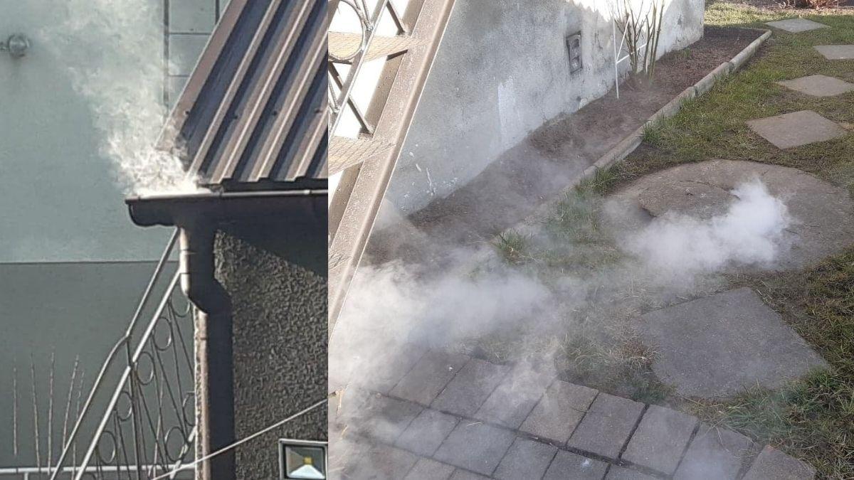 Krotoszyn. Dym leci z rynien i szamba. Co się dzieje? - Zdjęcie główne