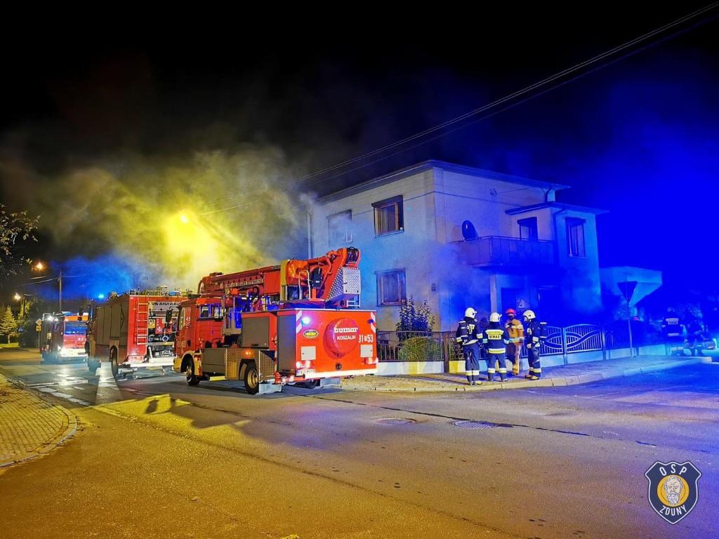 Pożar w budynku jednorodzinnym w Krotoszynie - Zdjęcie główne