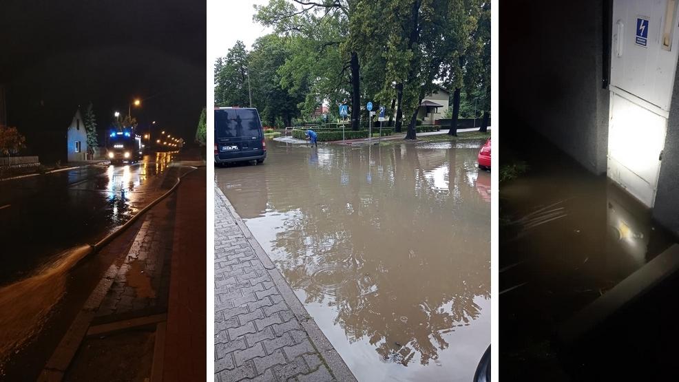 Po burzy i ulewnych opadach deszczu, zalane posesje i piwnice - Zdjęcie główne