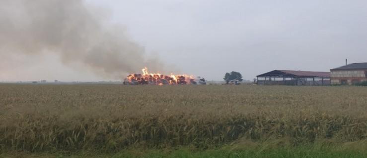 Pożar olbrzymiej sterty słomy w Ostrobudkach - Zdjęcie główne