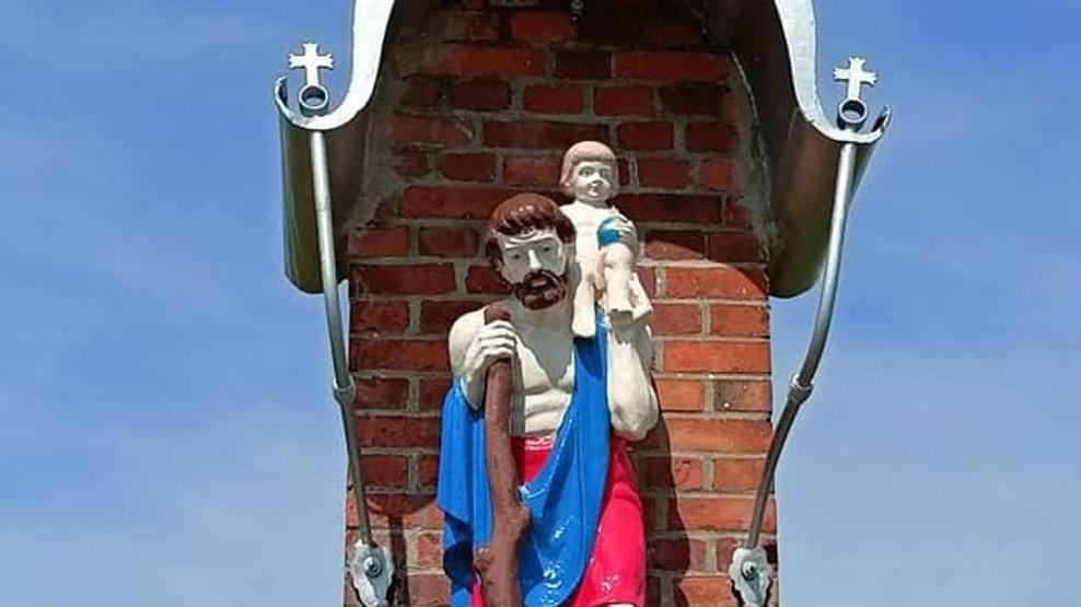 Odnowiono figurę św. Krzysztofa - Zdjęcie główne