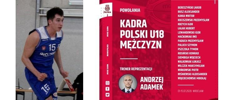 Iwo Maćkowiak w koszykarskiej kadrze Polski U18 - Zdjęcie główne