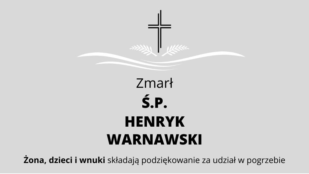 Zmarł Ś.P. Henryk Warnawski - Zdjęcie główne
