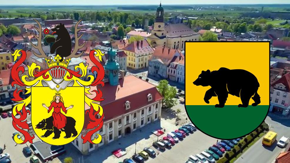 Wędrówka śladami niedźwiedzia - herb Rawicz i herb miasta - Zdjęcie główne