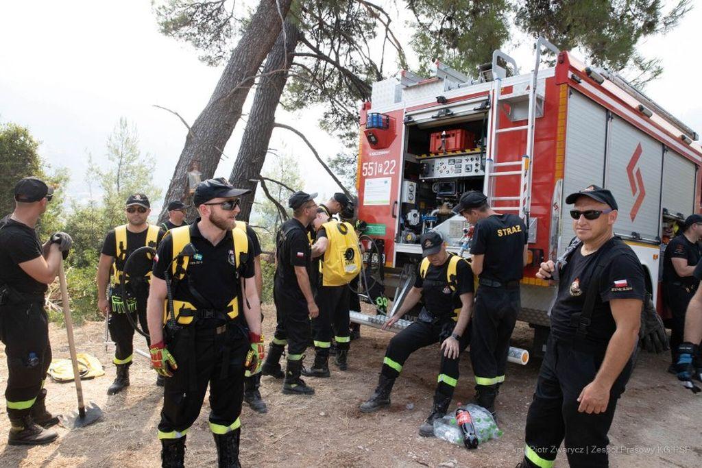 Pożary w Grecji. Pleszewscy strażacy jeszcze nie wracają do domu  - Zdjęcie główne
