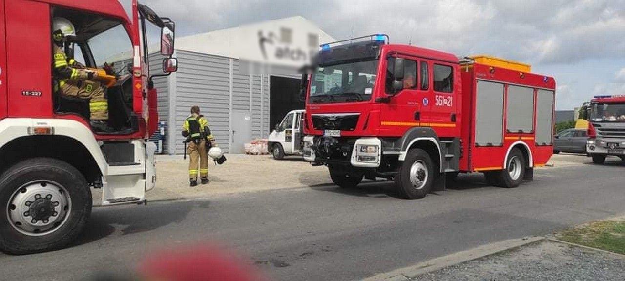 Pożar hali w Taczanowie [FOTO] - Zdjęcie główne