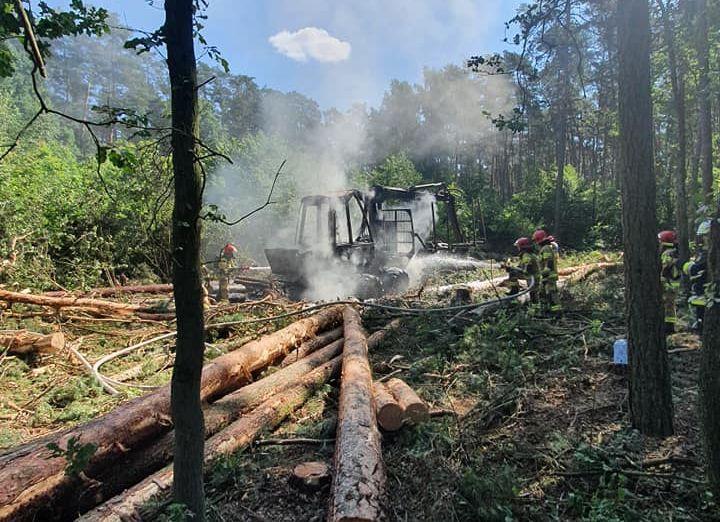 Kolejny pożar w gminie Czermin. Strażacy w akcji - Zdjęcie główne