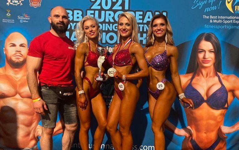 Patrycja Kaźmierczak z Czermina srebrną medalistką Mistrzostw Europy w Kulturystyce i Fitness 2021  - Zdjęcie główne