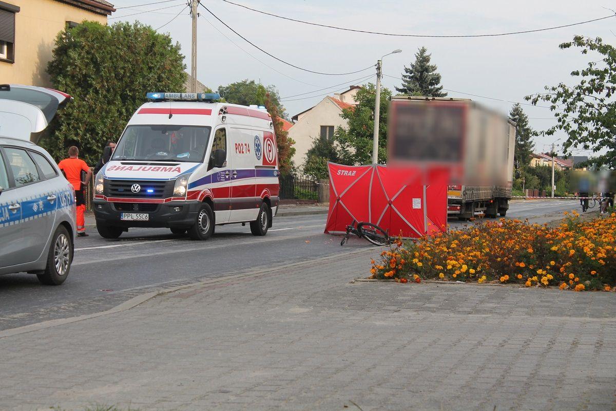 Tragiczny wypadek w Gizałkach. Tir potrącił rowerzystę - Zdjęcie główne