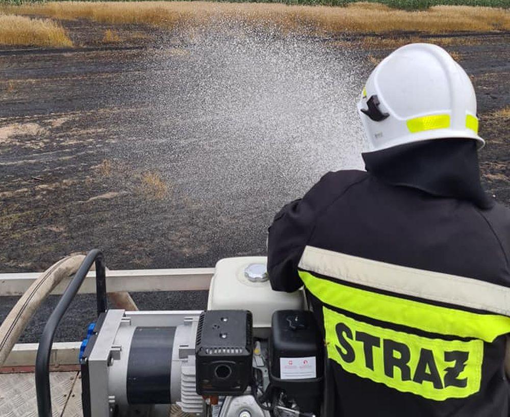 Pożar w Broniszewicach. Strażacy w akcji - Zdjęcie główne