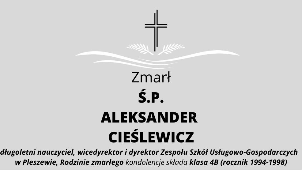 Zmarł Ś.P. Aleksander Cieślewicz - Zdjęcie główne