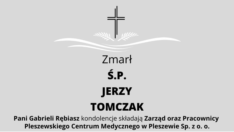Zmarł Ś.P. Jerzy Tomczak - Zdjęcie główne