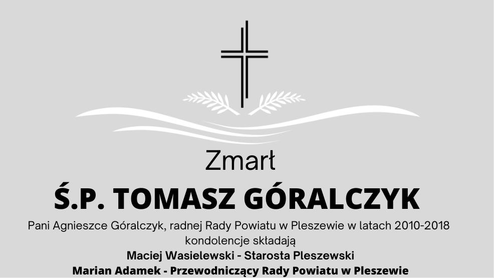 Zmarł Ś.P. Tomasz Góralczyk - Zdjęcie główne