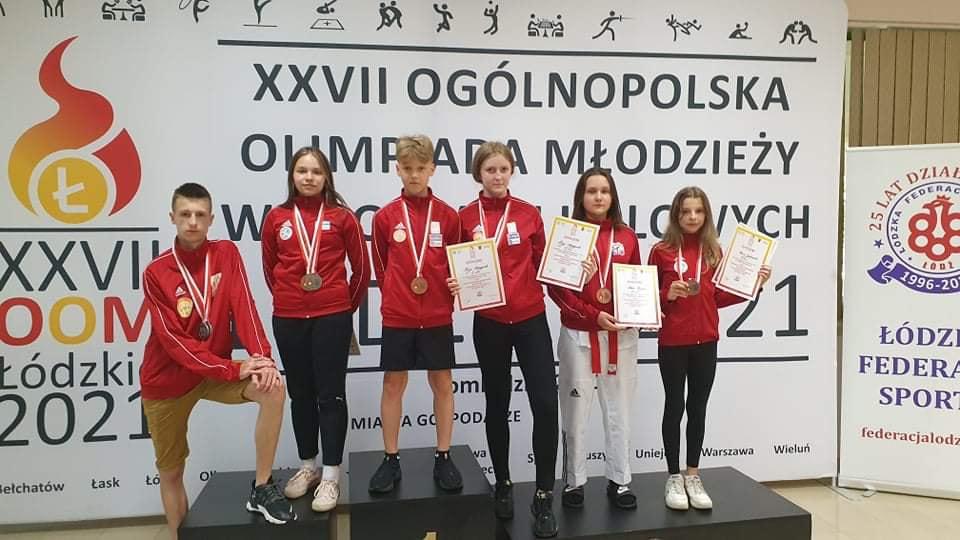 Taekwondo olimpijskie. Medale i punkty na Ogólnopolskiej Olimpiadzie Młodzieży - Zdjęcie główne