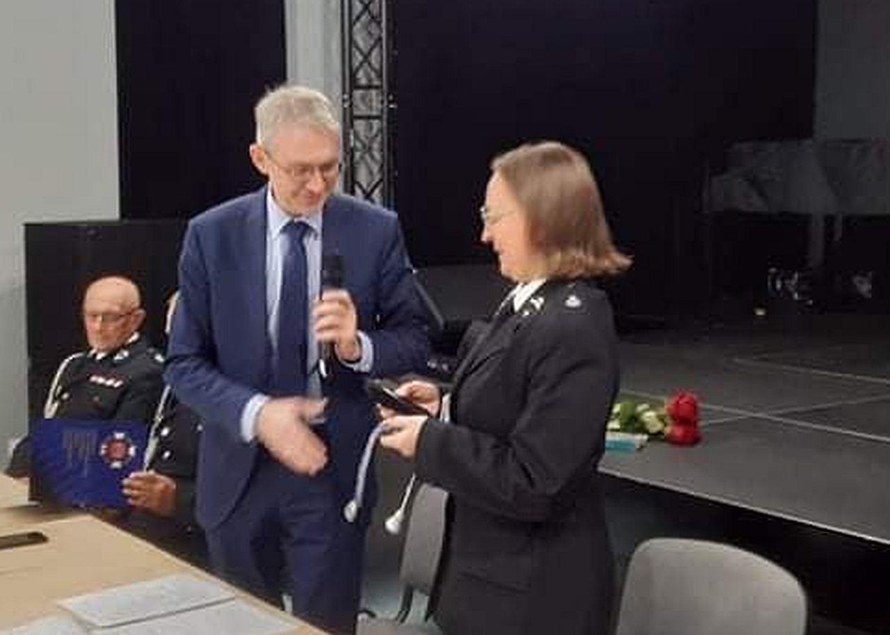 Dorota Gorzaniak została nowym prezesem zarządu Oddziału Miejsko-Gminnego Związku OSP RP w Pleszewie - Zdjęcie główne