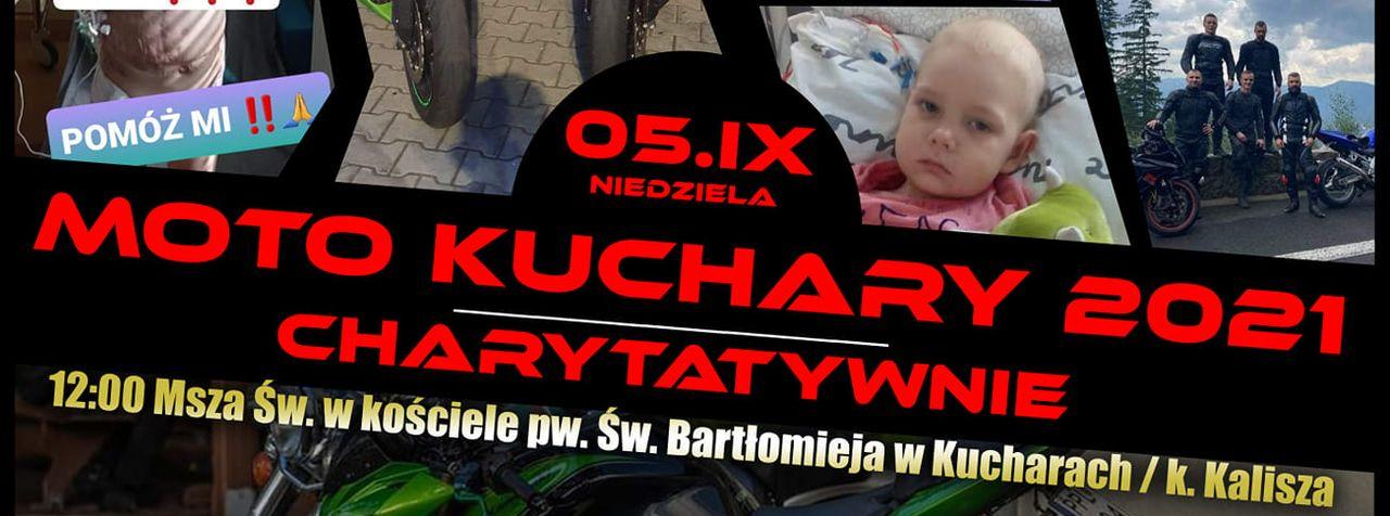 Charytatywna impreza motocyklowa w Kucharach. Będą zbierać kasę dla małego Huberta  - Zdjęcie główne